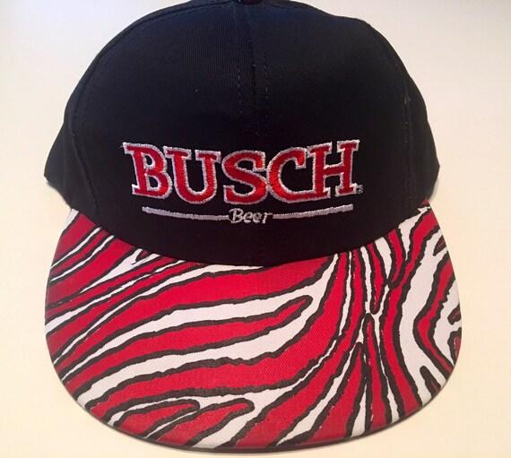 5100d8de8c5 Vintage 80s All Over Print Anheuser Busch Beer Snapback Hat