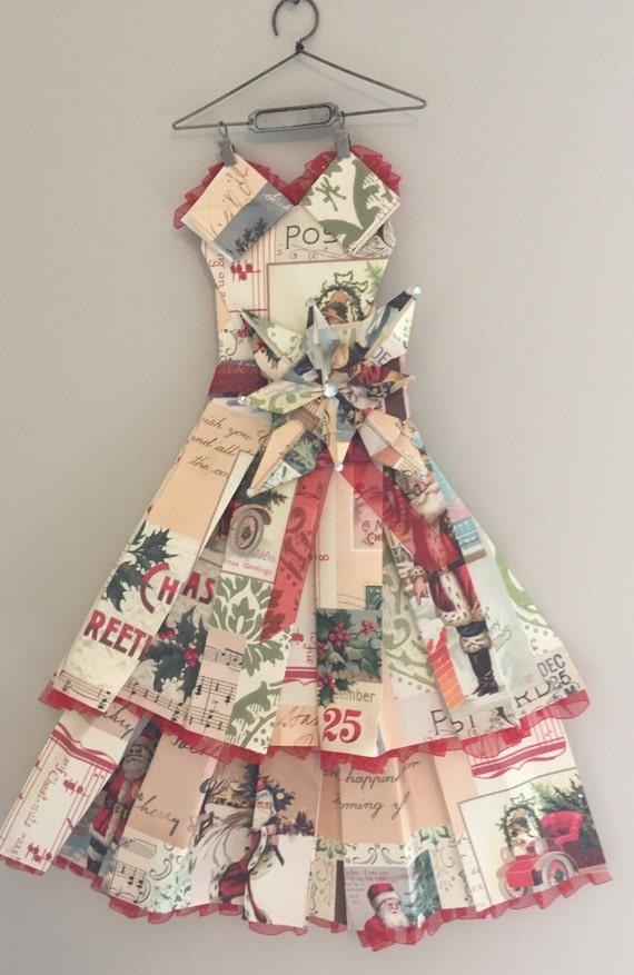 Vintage Holiday Dress Christmas Decorations Room Decor Etsy