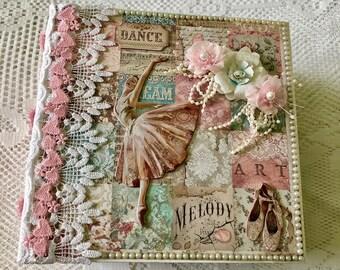 Scrapbook Album, Mini Album Handmade, Ballerina Photo Album,Daughter Memory Book, Mini Scrapbook, Dance Mini  Album, Gift For Daughter