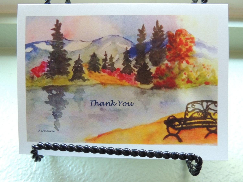 Watercolor Art Painting Greeting Cards Beautiful Breckenridge 5x7