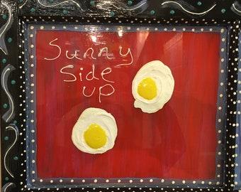 "Painting- Egg Window ""Organic Eggs"" # 1171"