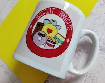 Ceramic Mug, Biscuit Bandits, Snack Lover