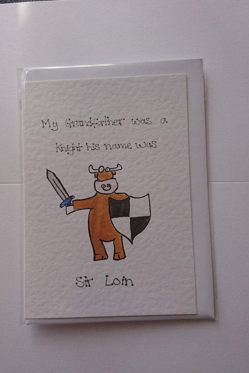 Sir Loin Hand-drawn Greeting Cards  Animal Cow farming image 0