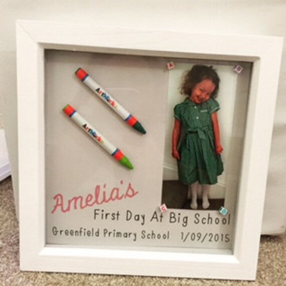 My First Day At School Frame Perfect Keepsake And Great Gift Etsy