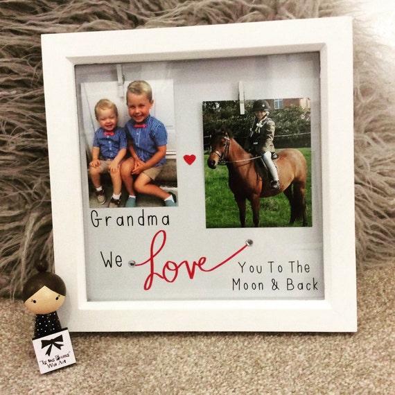 Grandma/Grandad I love you shadow box frames perfect gift from ...