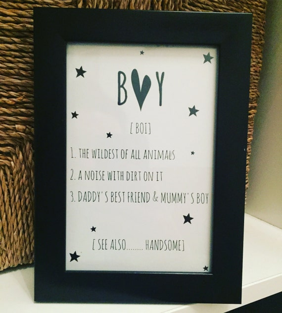 Boy/Girl Frames Perfect for boys and girls room decor a   Etsy