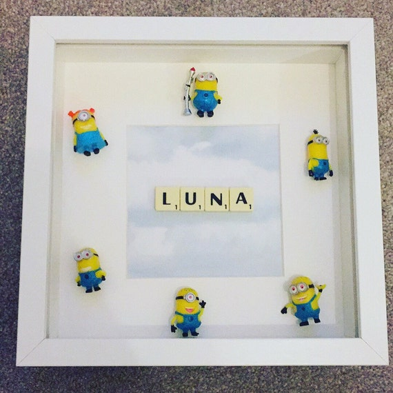 Minions Frame with Name perfect boy/girl gift for any minion | Etsy