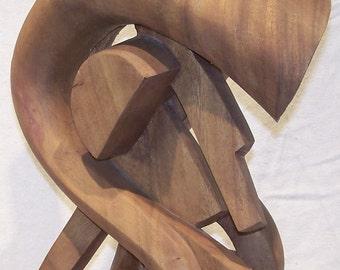 Indonesian Gama Bali Wood Free Form Sculpture
