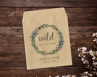 Boho Wedding, Wedding Seed Packet, Seed Packet Favor, Rustic Wedding, Wildflower Seeds, Seed Envelope, Custom Seed Packet, Seed Favor x 25