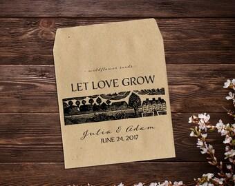 Vintage Wedding Favor, Seed Packet Favor, Wedding Favor, Seed Packet Envelopes, Let Love Grow Favor, Rustic Wedding x 25