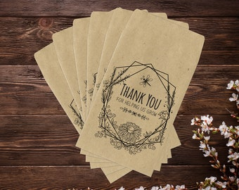 Small Business Thank You, Business Thank You, Seed Packet Favors, Seed Favor, Thank You For Supporting My Business, Seed Packets Mini x 25