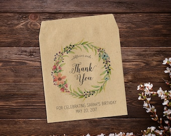Birthday Favors, Seed Packets, Personalized Thank You Gift, Seed Packet Favor, Seed Favor, Birthday Party Favors, Birthday Seed Favor x 25