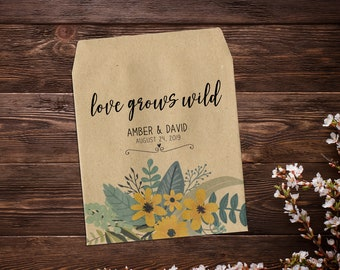 Seed Packet Favor, Custom Seed Packets, Boho Wedding Favor, Seed Packets, Woodland Wedding Favors, Let Love Grow, Rustic Wedding Favor