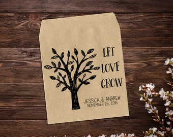Wedding Favor Seed Packets, Personalized Favor, Country Wedding, Wedding Seed Packet, Wedding Favor, Barn Wedding, Rustic Wedding x 25