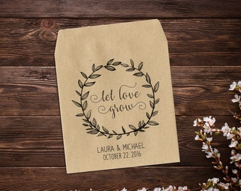 Seed Packets, Seed Wedding Favors, Seed Favors, Seed Favors Wedding, Rustic Wedding Favors, Let Love Grow Seed Packets, Party Favors x 25