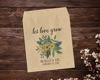 Custom Seed Packets, Wedding Seed Packets, Rustic Wedding, Personalized Favor, Custom Seed Wedding Favor, Wedding Favor, Boho Wedding x 25