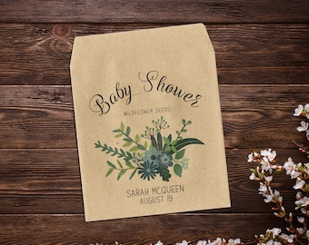Baby Boy Favor, 25 Baby Shower Favors, Seed Packet Favor, Seed Packet Favor, Thank You, Seed Favor, Party Favor, Boy Baby Shower