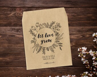 Personalized Wedding Favor, Seed Packet, Eco Friendly, Favor Seeds, Seed Favors Wedding, Wedding Favor, Seed Favor, Bridal Shower Favor