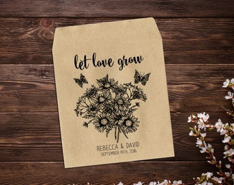 Seed Packet Wedding Favor, Seed Packet Favor, Rustic Wedding, Flower Seed Packet, Seed Wedding Favor, Wedding Favor, Personalized Favor x 25