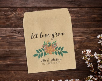 Wedding Seed Packet, Rustic Wedding Favor, Custom Seed Packets, Personalized Favor, Seed Wedding Favor, Favor Wedding, Wedding Favor x 25