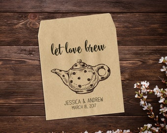 Tea Packet Favor, Tea Party Favors, Tea Bag Favor, Paper Bag Favors, Custom Favor, High Tea, Wedding Favor, Tea Favor, Bridal Shower