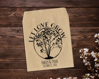 Rustic Wedding Favor, Wedding Seed Packet, Rustic Wedding Favor, Personalized Favor, Seed Packet Favor, Let Love Grow, Seed Favors, Eco x 25