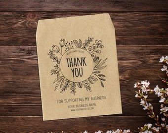 Business Thank You, Seed Packet Favors, Seed Favor, Small Business Thank You, Thank You For Supporting My Business, Thank You Seed Packets