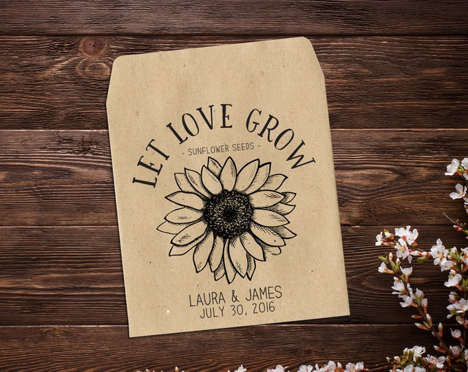 Featured listing image: Sunflower Seed Favors, Seed Packets, Wedding Seed Packets, Seed Packet Favors, Sunflower Seed Packets, Sunflower Wedding Favors