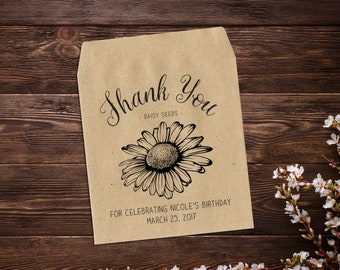 Birthday Favor, Seed Packets, Personalized Birthday, Seed Packet Favor, Seed Favor, Birthday Favor Bags, Birthday Seed Favor x 25