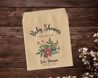 Baby Shower Favors,  25 Seed Packet Favors, Baby Girl Favor, Seed Packet Favor, Thank You Gift, Seed Favor, Party Favor, Girl Baby Shower