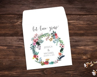 Wedding Seed Packets, Seed Favor, Let Love Grow, Wedding Favor, Boho Wedding Favor, Seed Packet, Wildflower Seeds, Seed Packet Favor
