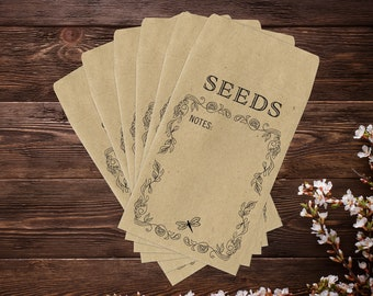 Seed Saver Envelopes, Seed Envelopes, Seed Packets, Seed Saving Envelopes, Seed Saving, Gardening, Gardening Gifts, Seed Storage, Mini x 25