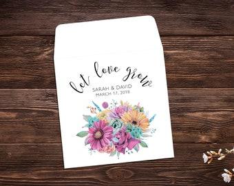 Elegant Wedding Wedding Favors Let Love Grow Flower Seeds Seed Packet Seed Packet Favor Wedding Favor Seed Packet Seed Favor x 25
