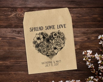 Heart Seed Packets, 25 Custom Wedding Favors, Rustic Wedding Favor, Wildflower Seeds, Heart Wedding Favors, Seed Packet Favors, Wedding Gift
