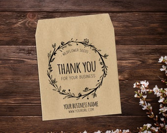 Thank You Seed Packets, Business Thank You, Seed Packet Favors, Thank You For Supporting My Business, Seed Favor, Small Business Thank You