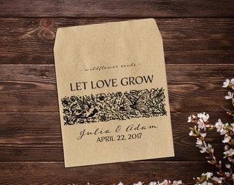 Seed Packet Favor, Seed Favors, Rustic Wedding Favor, Vintage Wedding Favor, Seed Packet, Let Love Grow Favour, Rustic Wedding x 25