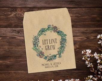 Seed Favor, Wedding Seed Packet, Custom Seed Packets, Boho Wedding, Personalized Favor, Custom Seed Wedding Favor, Wedding Favor x 25