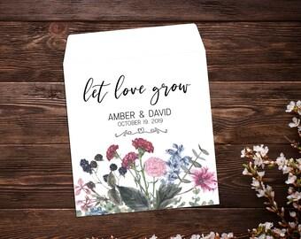 Seed Favor, Garden Wedding, Custom Wedding Favor, Wedding Favor, Custom Seed Packet, Personalized Favor, Wildflower Seeds, Seed Packet Favor