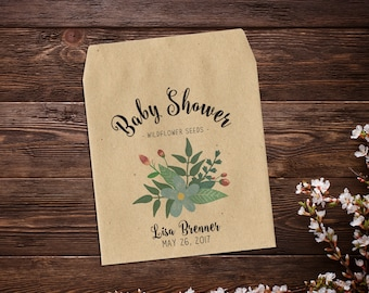 Baby Shower Favors, Seed Packet Favor, Thank You, Seed Favor, Baby Boy Favor, Party Favor, Seed Packet Favor, Boy Baby Shower x 25