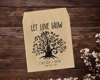 Wedding Favor Seed Envelopes Seed Packet Favors Custom Favor Wedding Favors Let Love Grow Seed Favors Rustic Wedding Favor x 25
