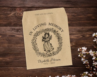 In Loving Memory, Seed Favor, Forget Me Not, Celebration Of Life, Seed Packet, Memorial Gift, Memorial Favor, Funeral, Sympathy Gift x 25