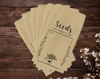 Seed Envelopes, Seed Saving Envelopes, Seed Saver Envelopes, Gardening Gifts, Seed Packets, Seed Saving, Garden Gifts, Seed Storage x 25