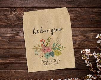 Wedding Seed Packets, Rustic Wedding, Custom Seed Packets, Personalized Favor, Custom Seed Wedding Favor, Wedding Favor, Boho Wedding x 25