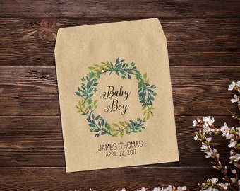 Baby Announcement, Seed Packets, Seed Favor, Baby Announcement, Seed Favor, Baby Boy Announcement, Seed Packets, Seed Packet Favor x 25