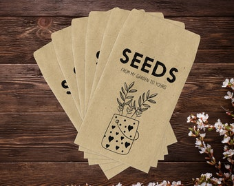 Seed Saving Envelopes, Seed Saver Envelopes, Gardening Gifts, Seed Envelopes, Seed Packets, Seed Saving, Garden Gifts, Seed Storage x 25