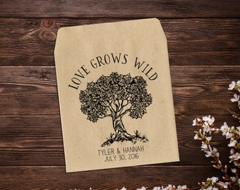 Custom Seed Packet, 25 Wedding Seed Packets, Rustic Wedding, Personalized Favor, Seed Packet Favor, Let Love Grow Seed Favor, Summer Wedding