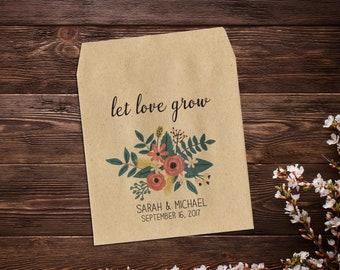 Wedding Seed Packet, Wedding Favor, Garden Wedding, Custom Seed Packet, Rustic Wedding, Seed Envelope, Seed Packet, Floral Wedding x 25
