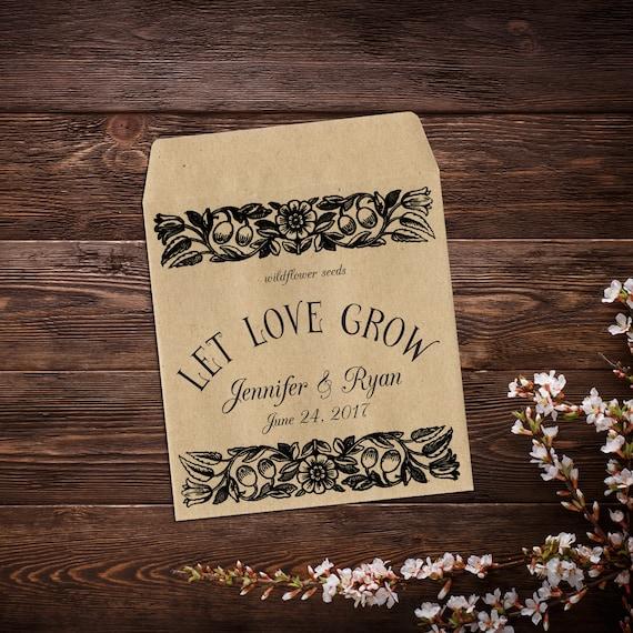 Wedding Favor Boho Wedding Favor Seed Packet Favor x 25 Wedding Seed Packets Let Love Grow Seed Favor Seed Packet Wildflower Seeds