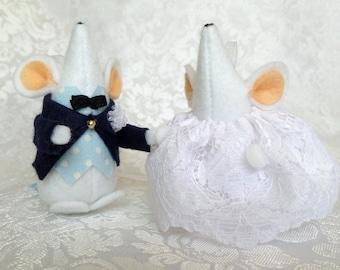 Couple de souris mariage