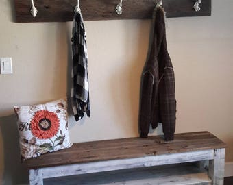 Superieur Entryway Bench, Farmhouse Storage Bench, Shoe Storage, Bench With Shelf, Storage  Bench, Mudroom, Distressed